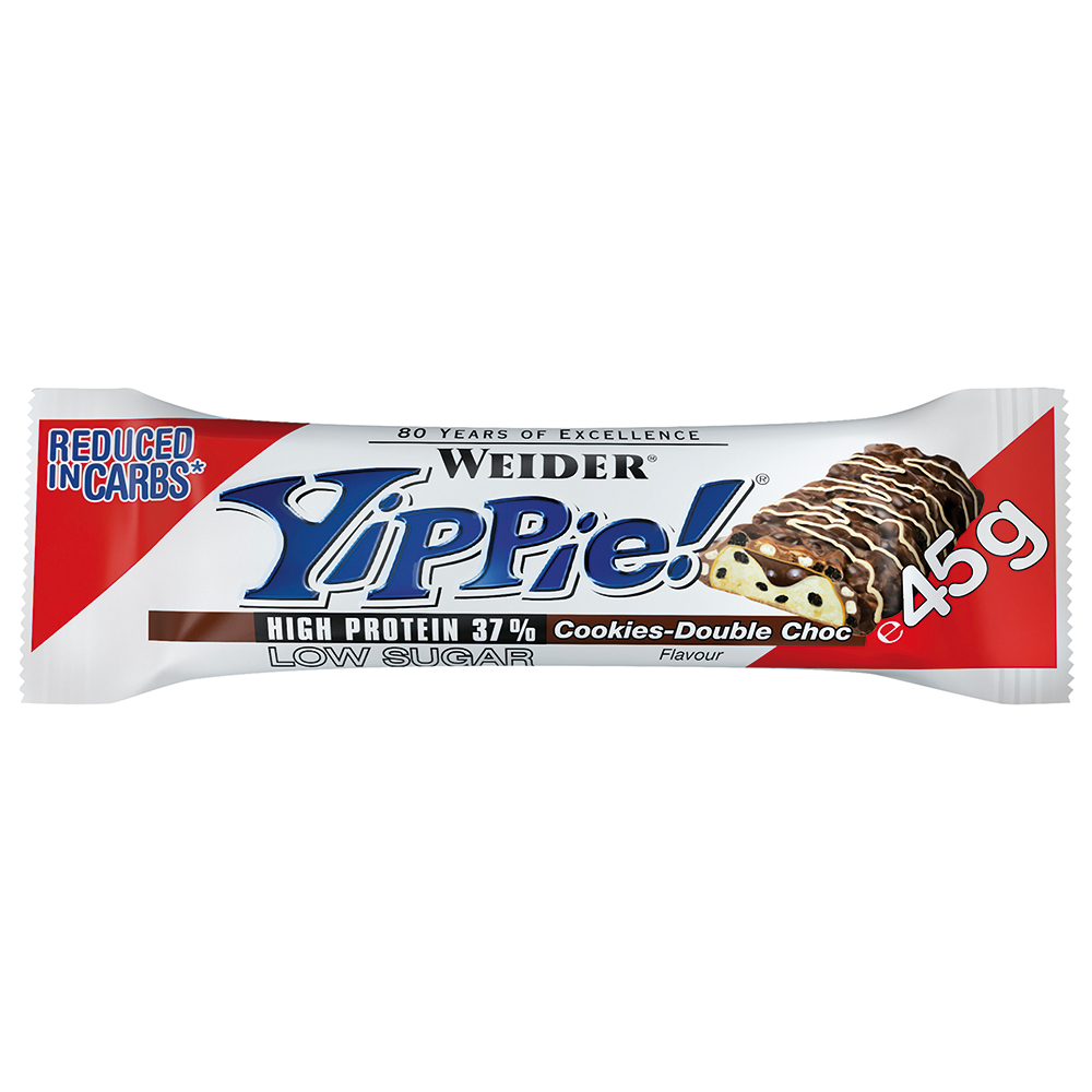 WEIDER YIPPIE – COOKIES DOUBLE CHOCOLATE – 45G